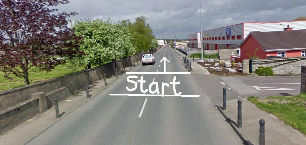 Start Line Location