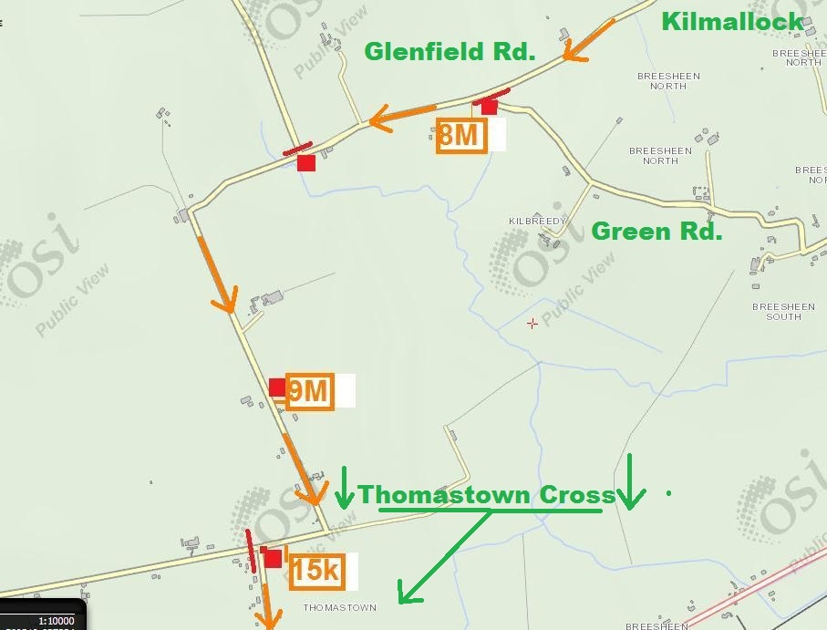 Steward Map 7 - Glenfield Rd Mile 7 to 9.5Miles Thomastown