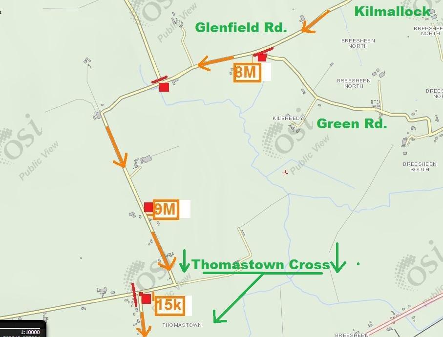 Steward Map 7 - Glenfield Rd Mile 7 to 9.5Miles Thomastown